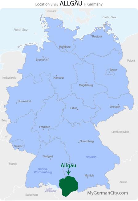 Allgäu Map