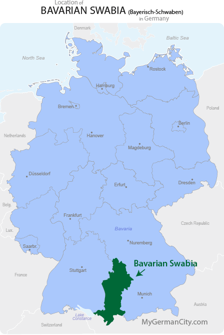 Bavarian Swabia Map