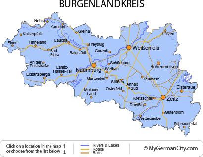 Map of the Burgenlandkreis