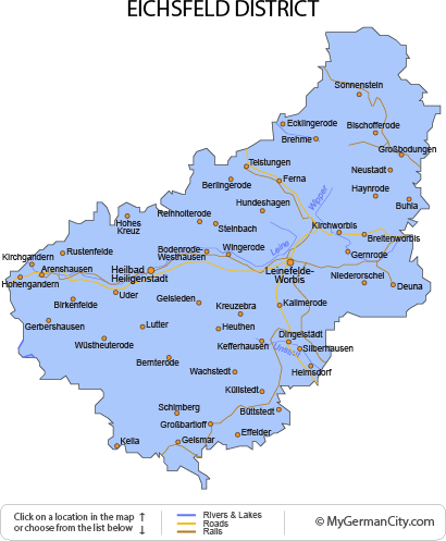 Map of the Eichsfeld District