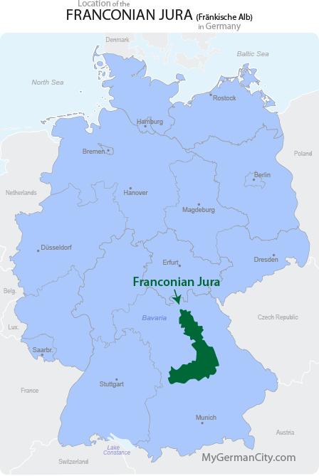 Franconian Jura Map