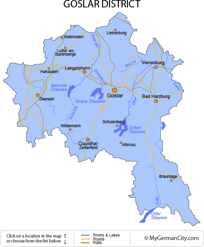 Map of the Goslar District