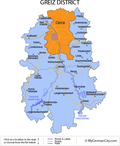 Map of the Greiz District