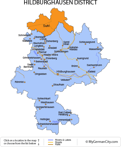 Map of the Hildburghausen District