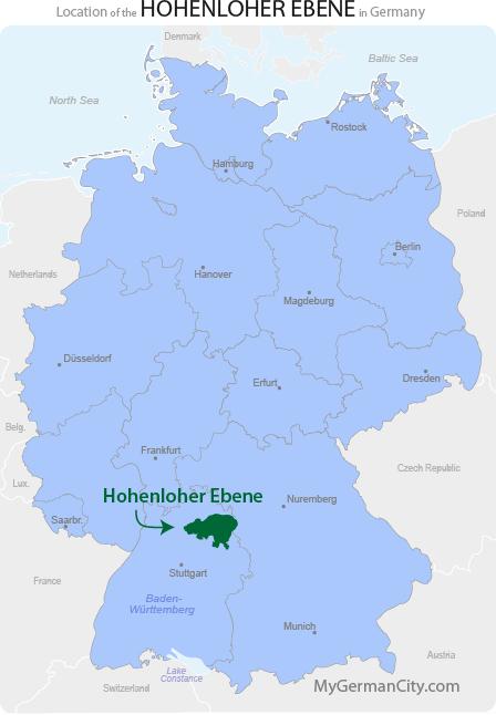 Hohenloher Ebene Map