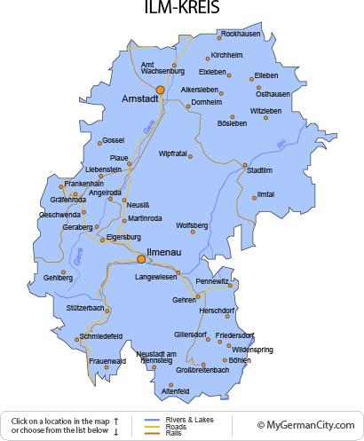 Map of the Ilm-Kreis