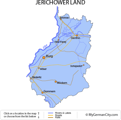 Map of the Jerichower Land