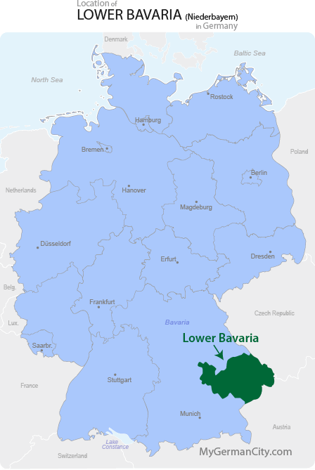 Lower Bavaria Map