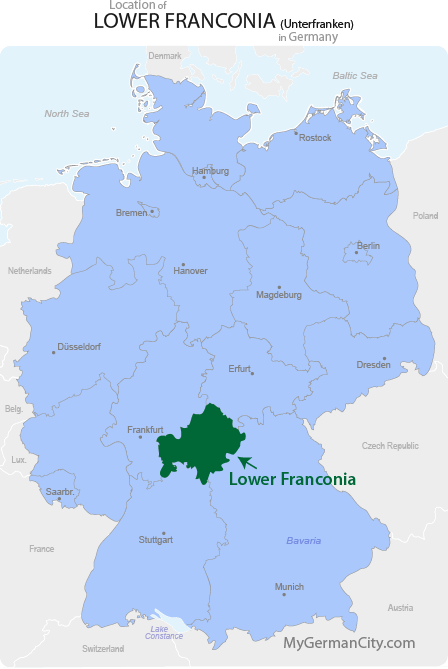 Lower Franconia Map