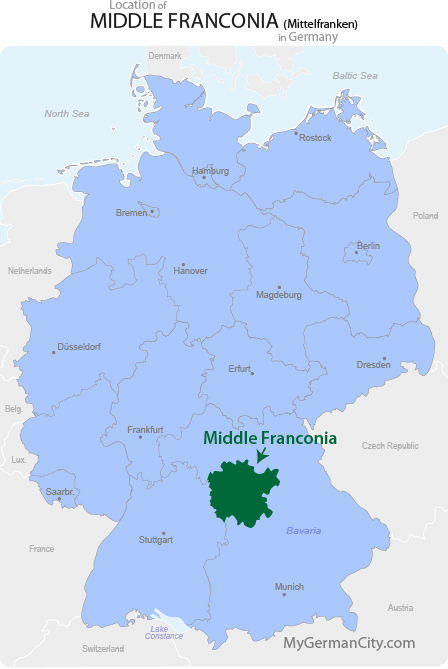 Middle Franconia Map