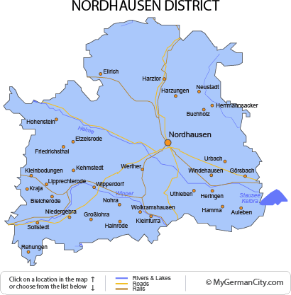 Map of the Nordhausen District