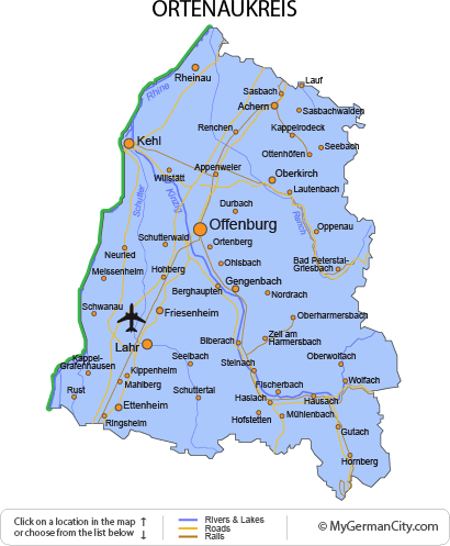 Map of the Ortenaukreis