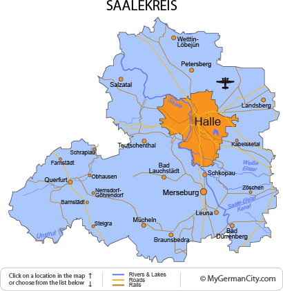 Map of the Saalekreis