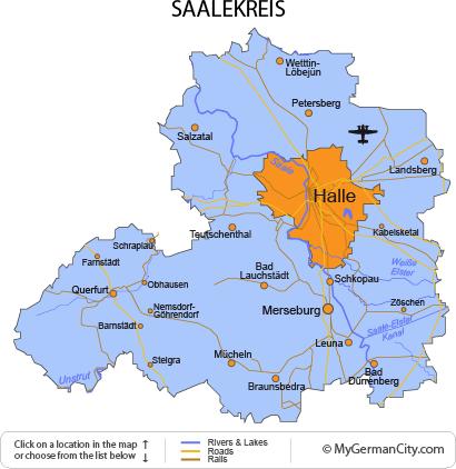 Map of the Saalekreis