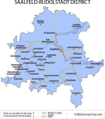 Map of the Saalfeld-Rudolstadt District