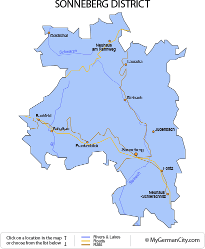Map of the Sonneberg District