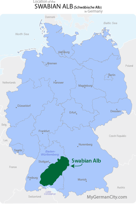 Swabian Alb Map