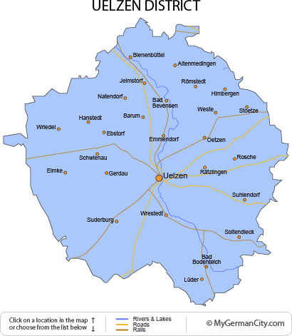 Map of the Uelzen District