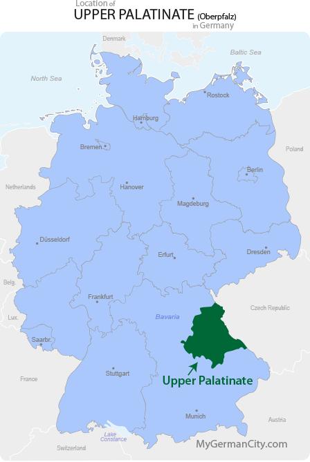 Upper Palatinate Map