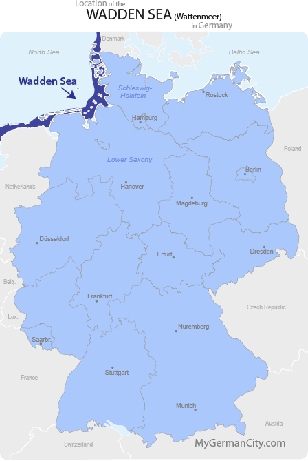 Wadden Sea Map