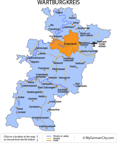 Map of the Wartburgkreis