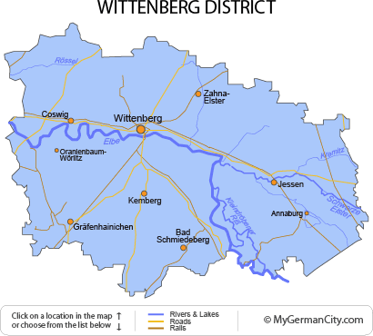 Map of the Wittenberg District