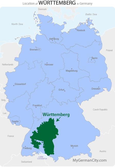 Württemberg Map